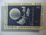 Sellos del Mundo : America : ONU : xSatelite Meteorologico - Organización Meteorológico Mundial