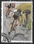 sello : Asia : Emiratos_Árabes_Unidos : Corrida de bicicleta