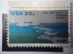 Sellos del Mundo : America : Estados_Unidos : Canal de San Lorenzo -25 Aniversaro,1959-1984 - St. Lawrence Seaway -