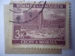 Sellos del Mundo : Europa : Alemania : Bohemia y Maravia - Ciudad de Zlín (Rep. Checa)- Edificio Batá