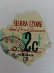Stamps Africa - Sierra Leone -  Mapa