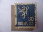 Stamps Norway -  Leon Tipo II . Animales heráldicos - Estilizados.
