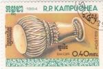 Stamps Asia - Cambodia -  INSTRUMENTO MUSICAL- SKOR