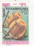 Stamps Asia - Cambodia -  INSTRUMENTO MUSICAL- SKOR THOM