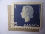 de America - Canadá -  Queen Elizabeth II - Espiga de Trigo. Serie:1962/64.