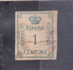Stamps Europe - Spain -  CORONA Y CIFRA (34)