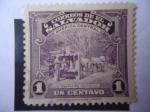 Stamps America - El Salvador -  Trapiche Indígena - Molino caña de Azúcar - Miel de Caña.