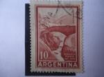 Stamps America - Argentina -  Puente del Inca - Mendoza-Arg.