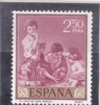 Stamps : Europe : Spain :  EL JUEGO DEL DADO (Murillo)(34)