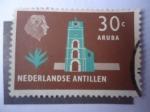 de America - Antillas Neerlandesas -  Fuerte Zoutman y su Torre Guillermo III - Aruba- Países Bajos.