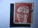 de Europa - Alemania -  Gustavo Walter Heinemann (1899-1976) 3er. ¨Presidente de Alemania, República Federal