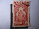 Stamps Yemen -  Palacio en la Ciudad vieja de Cana´a - Capital de Yemen.