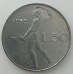 monedas de Europa - Italia -  1975 - 50 liras