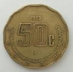 monedas del Mundo : America : México :  1993 - 50 centavos