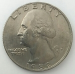 monedas del Mundo : America : Estados_Unidos :  1982 Quarter dollar