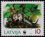 Sellos del Mundo : Europa : Letonia : Lirón comiendo fresas