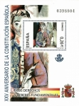 Stamps : Europe : Spain :  Edifil SH4037 XXV Aniversario Constitución Española 0,26 hojita NUEVO