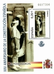 Stamps Spain -  Edifil SH4042 XXV Aniversario Constitución Española 0,26 hojita NUEVO