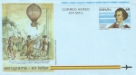 Stamps Spain -  Edifil Aerograma 217 Vuelo en globo de Vicente Lunardi 60 NUEVO