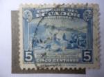 Stamps Ecuador -  Seguro Social del Campesino - Casa de Correo de Guayaquil - Trabajadores -Impuesto Obligatorio.