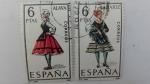Sellos de Europa - España -  Trajes Regionales de España