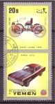 Stamps Yemen -  historia del automovil