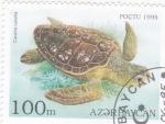 Stamps : Asia : Azerbaijan :  TORTUGA MARINA