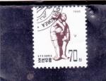 Stamps North Korea -  NIÑOS CON PELOTA