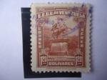 Stamps : America : Venezuela :  Monumento de Simón Bolívar en las Plazas de Caracas. 110 Aniversario de su Muerte.