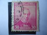 Stamps : America : Chile :  José Joaquín Perez (1801-1889)-Presidente