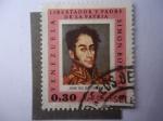 Stamps : America : Venezuela :  Simón Bolívar Pintura de José Gil Castro 1825- Pinturas-retratos de Bolívar