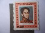sellos de America - Venezuela -  Simon Bolivar - Pintura de José Gil Castro 1825- Serie Pinturas-Retratos de Simón Bolívar.