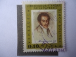 Stamps Venezuela -  Simón Bolívar - Pintura de Autor Desconocido - Serie:Pinturas-Retratos de Simón Bolívar.