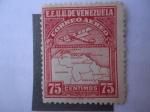 Stamps : America : Venezuela :  Mapa de Venezuela - (Primera Serie)