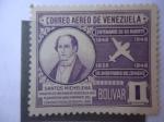 Stamps : America : Venezuela :  Santos Michelena - Centenario de su Muerte(1948-1948) - 110 Aniversario Convenio Postal de Bogotá (1