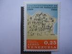 Stamps : America : Venezuela :  Mapa de la Villa de Maracaibo,1562 - Cuatricentenario de la Ciudad de Maracaibo (1569-1969)