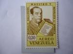 Stamps : America : Venezuela :  Rómulo Gallegos,(1884-1969) - Presidente,Maestro y Novelista de América. 80 Cumpleaños.