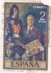 Stamps Spain -  AUTORRETRATO (SOLANA) (35)