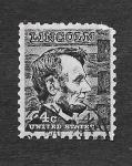 Sellos de America - Estados Unidos -  1282 - Abraham Lincoln