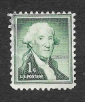Stamps United States -  1031 - George Washington