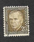 Sellos de America - Estados Unidos -  George Catlett Marshall