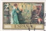 Stamps Spain -  LOS PRIMEROS PASOS(Rosales)(35)