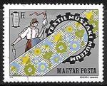 Sellos de Europa - Hungría -  Museo - Industria Textil