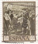 Sellos de Europa - España -  LA RENDICIÓN DE BREDA (velazquez)  (35)