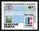 Sellos de Europa - Hungría -  Congreso Eurocheck en Budapest