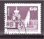 Stamps Germany -  serie- edificios