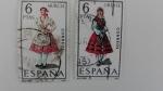 Stamps Spain -  Traje Regional
