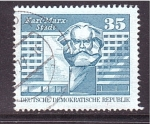 Stamps of the world : Germany :  karl marx stadt- dos tamaños