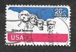 Sellos de America - Estados Unidos -  Monumento Nacional Monte Rushmore