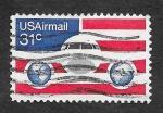 Stamps : America : United_States :  C90 - Avión